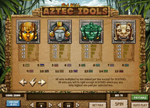 paytable slot aztec idols