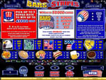 slot machine bars & stripes