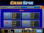 paytable slot cash spin
