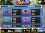 tabella pagamenti slot cash wizard