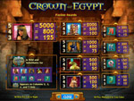 slot gratis crown of egypt