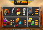 paytable slot machine easy slider