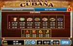 paytable slot havana cubana