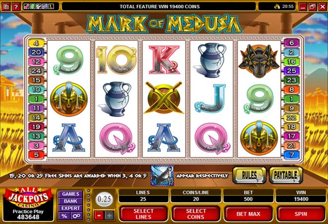 slot online mark of medusa gratis