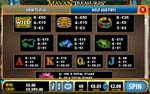 paytable slot mayan treasures