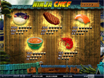 paytable slot ninja chef