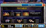 paytable slot pharaoh's dream
