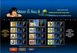 paytable slot queen of the nile 2