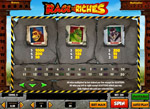 tabella pagamenti slot rage to riches