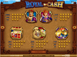 tabella vincite slot royal cash