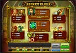 tabella vincite slot secret elixir