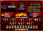 paytable slot super fast hot hot