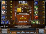 tabella pagamenti slot troll hunters
